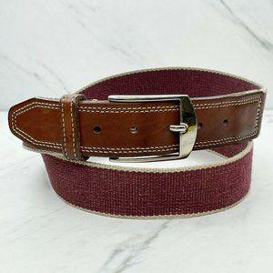 Martin Dingman Web Belt with Leather Trim Size 38